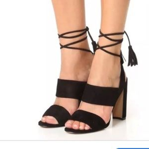 Madewell Octavia black suede sandals 6. New
